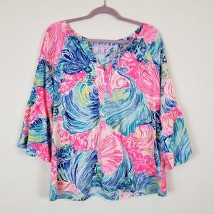 Lilly Pulitzer Del Lago Tunic Top size large